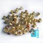 Люверсы золото  d 5,5 mm (уп. =1000 шт. +/-10%)