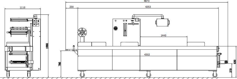 Схема термоформовочной машины